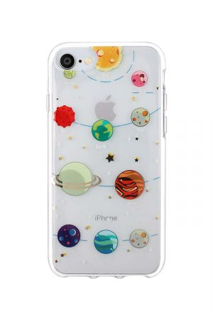 transparent iphone med tio stycken planeter