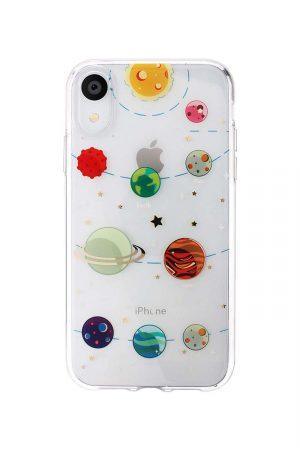 transparent iphone skal med planeter