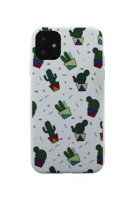 iphone 11 soft case skal med kaktusar på