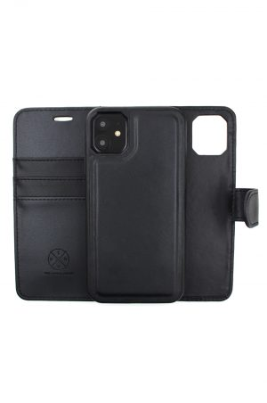 Mobello Leather Wallet Genuine Leather Black - iPhone 11 Pro Max