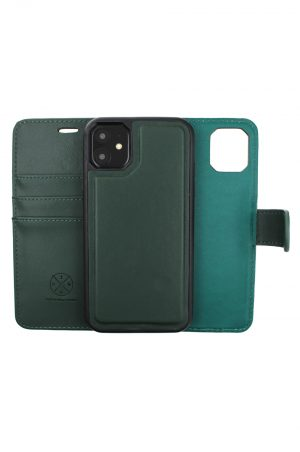 Mobello Leather Wallet Genuine Leather Green - iPhone 11