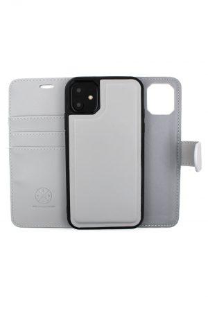 Isuit ljusgrått magnet plånboksfodral för Iphone 11