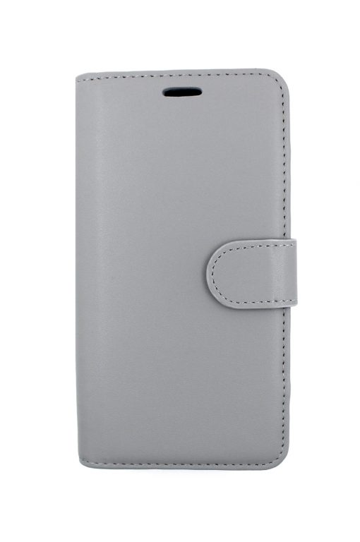 Mobello Leather Wallet Genuine Leather Grey - iPhone XR