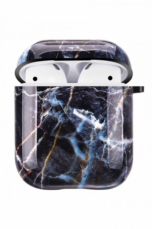 Airpods i grått marmor cover fodral