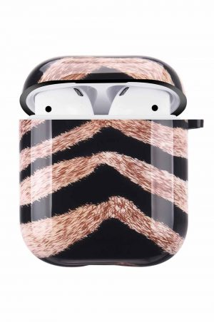 Airpods i cover fodral med tigertryck