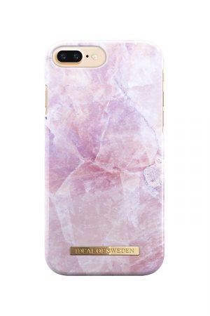 Iphone med rosa marmor skal med ideal of sweden loga i guld