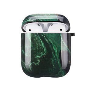 Mobello Soft Poly Airpods cover Emerald River i Semi-mjuk plast