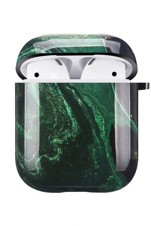 Mobello Soft Poly Airpods cover Emerald River i Semi-mjuk plast