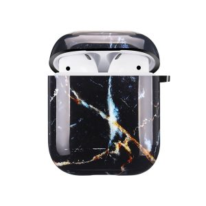 Mobello Soft Poly Airpods cover Galaxy Marble i Semi-mjuk plast