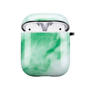 Mobello Soft Poly Airpods cover Jade Marble i Semi-mjuk plast
