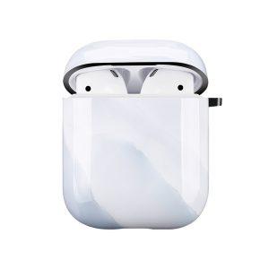 Mobello Soft Poly Airpods cover White Stone i Semi-mjuk plast