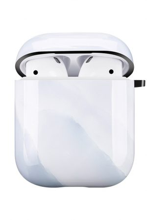 Mobello Soft Poly Airpods cover White Stone i Semi-mjuk plast