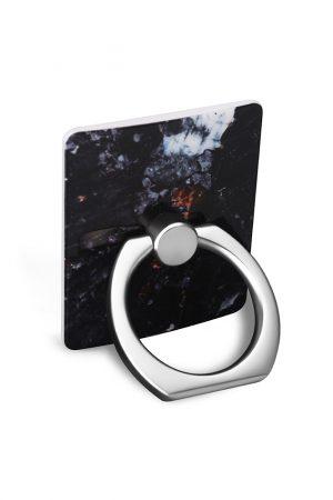 Ring Holder Charcoal Marble i Semi-mjuk plast