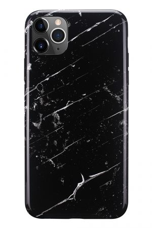 Mobello Soft Poly Black Marble iPhone 11 Pro Max i Semi-mjuk plast