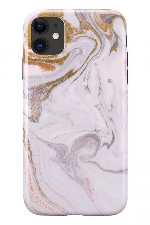 Mobello Soft Poly Coffee Swirl iPhone 11 i Semi-mjuk plast