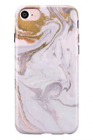 Mobello Soft Poly Coffee Swirl iPhone 7 i Semi-mjuk plast