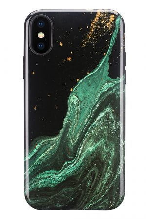 Mobello Soft Poly Emerald River iPhone X i Semi-mjuk plast