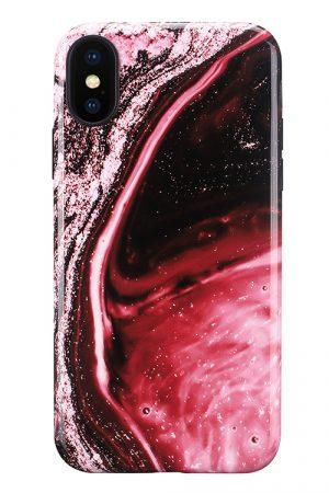 Mobello Soft Poly Red Onyx iPhone X i Semi-mjuk plast