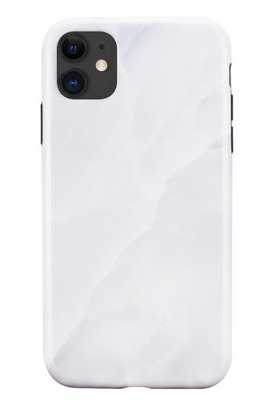 Mobello Soft Poly White Stone iPhone 11 i Semi-mjuk plast
