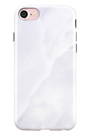 Mobello Soft Poly White Stone iPhone 7 i Semi-mjuk plast