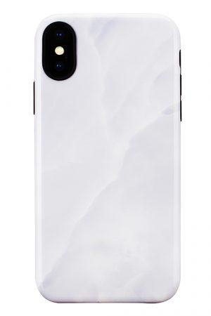 Mobello Soft Poly White Stone iPhone X i Semi-mjuk plast