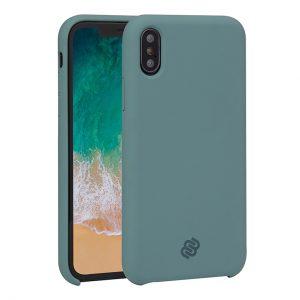 Mobello Velvet Silicon Grön - iPhone X
