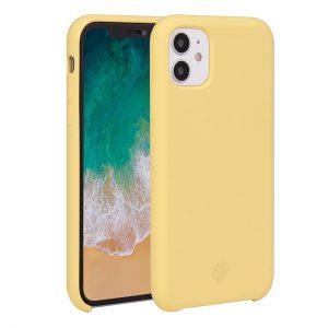 Mobello Velvet Silicon Gul - iPhone 11