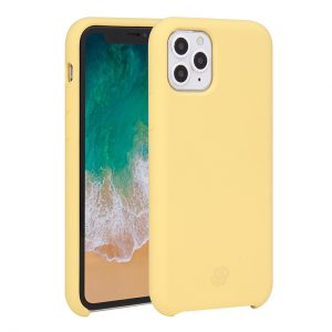 Mobello Velvet Silicon Gul - iPhone 11 Pro