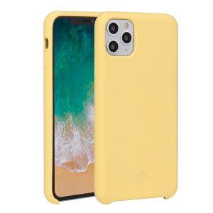 Mobello Velvet Silicon Gul - iPhone 11 Pro Max
