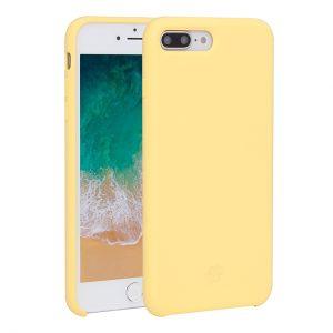 Mobello Velvet Silicon Gul - iPhone 8 Plus