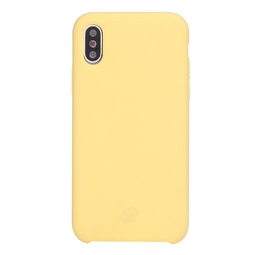 Mobello Velvet Silicon Gul - iPhone XR