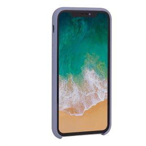 Mobello Velvet Silicon Lila - iPhone XS
