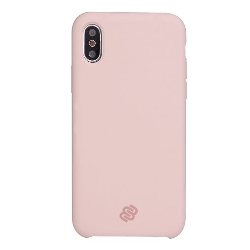 Mobello Velvet Silicon Rosa - iPhone XS