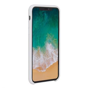 Mobello Velvet Silicon Vit - iPhone 11 Pro Max
