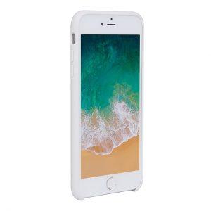 Mobello Velvet Silicon Vit - iPhone 8 Plus