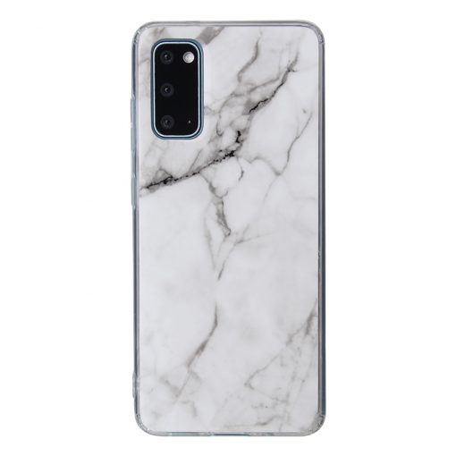 PopCase White Marble - Galaxy S20